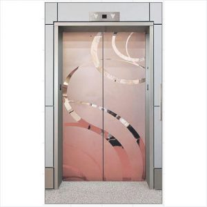 Golden Designer Finish Auto Door
